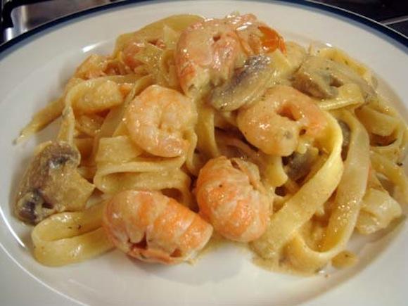langoustine & shrimp tagliatellie