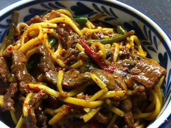 chilli beef noodles