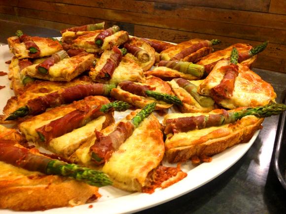 Cheese & Toast with Asparagus