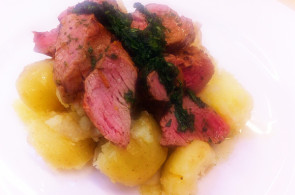 Lamb Fillet with Crushed Potatoes & Mint Sauce