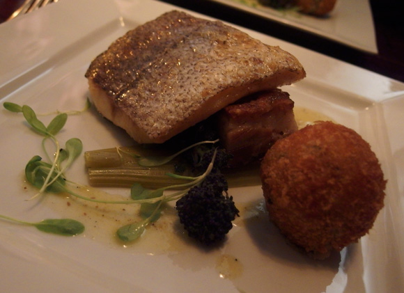 Troon Landed Salt Cured Hake, Pork Belly, Smoked Mackerel Croquet