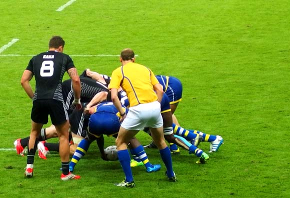 2014 Commonwealth Games Rugby Sevens New Zealand Scrum