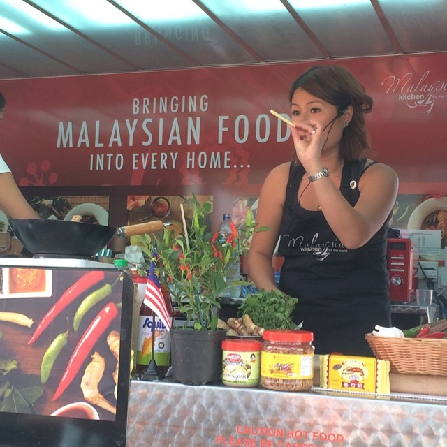 At @intuBraehead watching @WanPingCoombes demoing with @MalaysianFoodUK #food #glasgow @stvglasgow