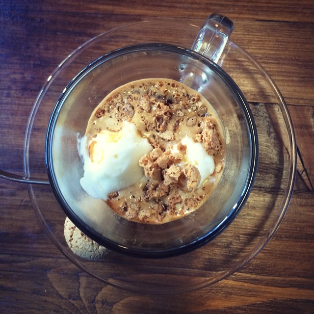 Affogato @labespr #coffee #glasgow #icecream #colpi #italian
