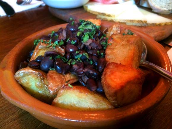 La Tasca Silverburn Tapas Potatoes and Black Beans