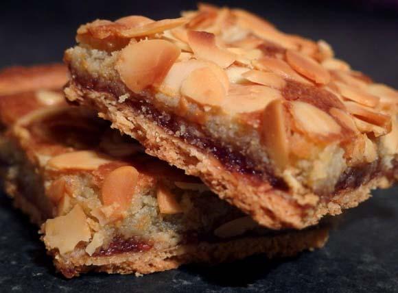 Bakewell Tart Slice with Raspberry Jam