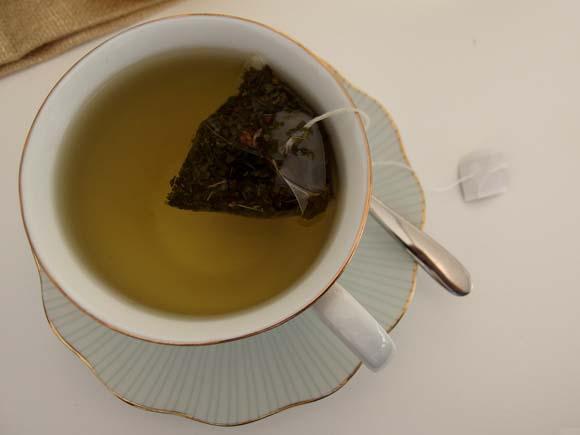 John Lewis Tea On The Green- Peppermint Tea Closeup