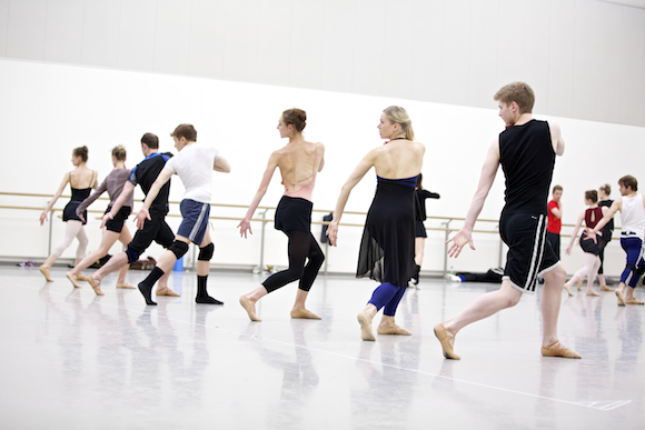 Scottish Ballet dancers in rehearsals for Helen Pickett's world premiere, The Crucible. Photo by Andy Ross