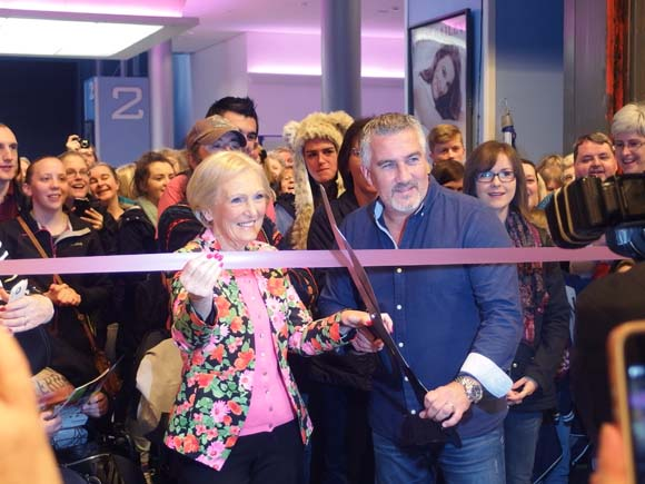 BBC-Good-Food-Show-Mary-Berry-and-Paul-Hollywood-Cutting-Ribbon