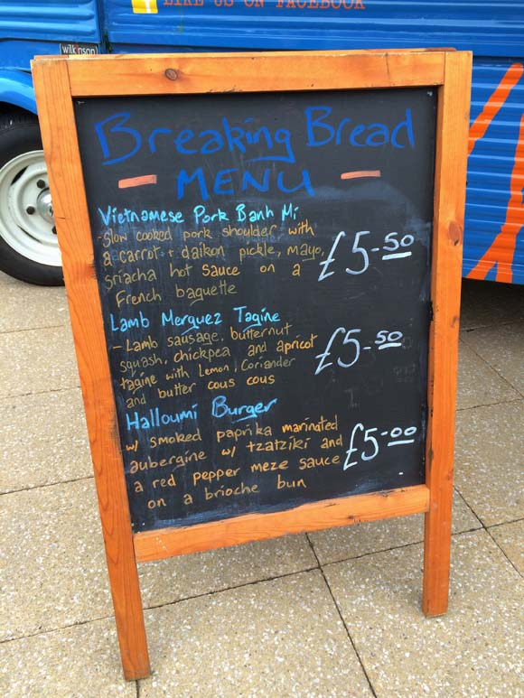 Eats From The Street- Glasgow Fort- Breaking Bread Menu