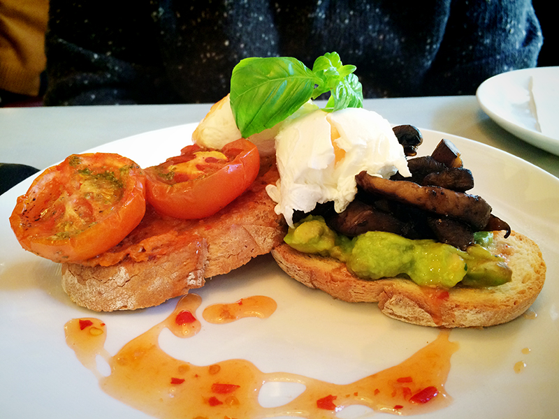 Bills Restaurant Glasgow- Vegetarian Breakfast