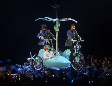 Take That Glasgow 2nd May 2015- Flying Bicycle