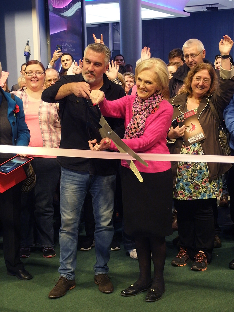 BBC Good Food Show Scotland 2015- Paul and Mary Opening the Show