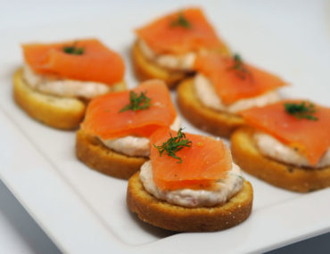 Lemon and Dill Inverawe Smoked Salmon Crostini- Lemon and Dill Crostini