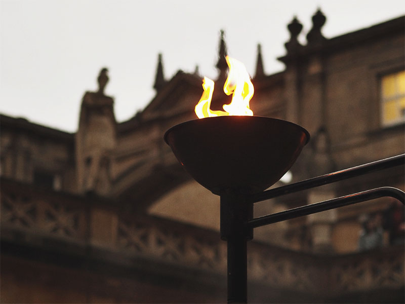 Exploring The Roman Baths- Torch
