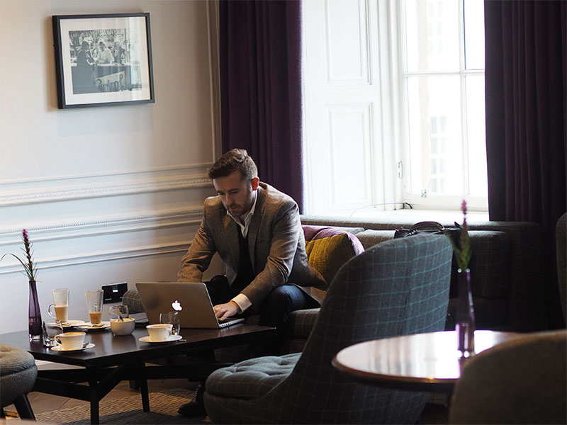 Millennial Mondays at Blythswood Square Hotel- Working at The Salon Bar