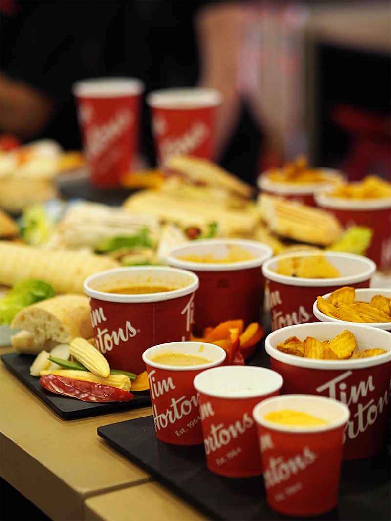 Tim Hortons Glasgow UK- Soups and Chilli