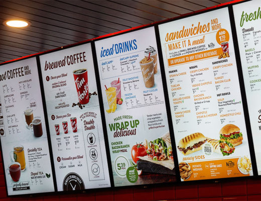 Tim Hortons Glasgow UK- Menu