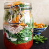Lemon Pepper Chicken Salad with Tri-Color Noodles