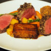 Ananyah-Burns Supper-Haggis Crusted Lamb Loin, Fondant Potato, Haggis Bon Bon and Vegetables